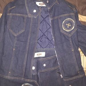 Moschino jean jacket with matching jeans