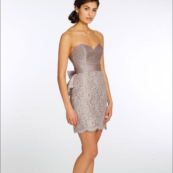 Blush Lazaro Wedding Gown: Blush Bridesmaid Dress