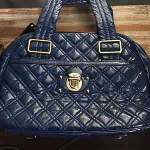 Marc Jacobs Quilted Patent Leather BowlerSatchel