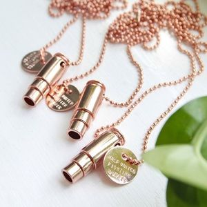 Rose Gold Bullet Necklace