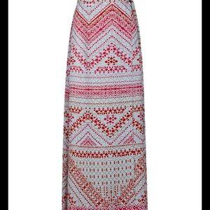 BCBGMaxAzria Dresses & Skirts - Aviva Geometric Print Wrap Maxi Skirt