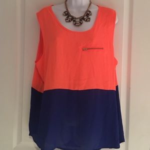 Absolute Angel Tops - Plus Color Block Top 3X