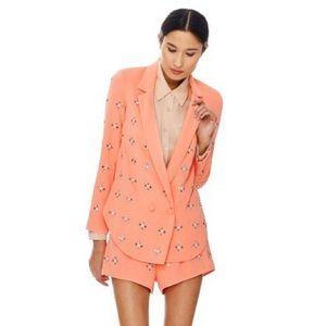 Clover Canyon Jackets & Blazers - Clover Canyon Pink Rhinestone Embellished Blazer