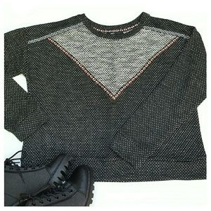 Mango Tops - NWOT Mango Ethnic Cropped Sweater