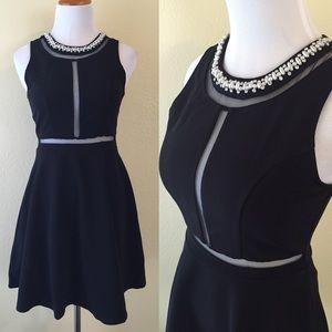 Boutique Dresses & Skirts - LAST ONE! Med Mesh Detail Dress Beaded Neckline