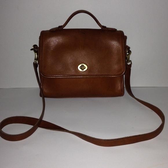 Coach Handbags - Vintage Made in USA Coach CrossBody Court Bag 9870 59bc0a1c1aa52