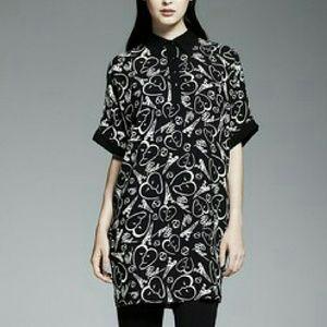 Catherine Malandrino Dresses & Skirts - 🎯Catherine Malandrino Small Black Dress Short Sleeve