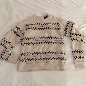 Hood by Air Tops - Hood By Air grommet/zipper sweatshirt