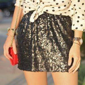 Eight Sixty Dresses & Skirts - Eight Sixty Sequin Black Skirt