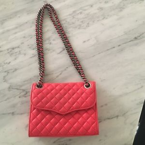 Rebecca minkoff quilted mini affair bag. Red.