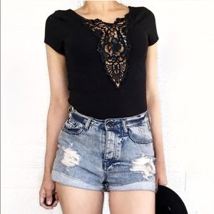 Forever 21 lace stretchy top