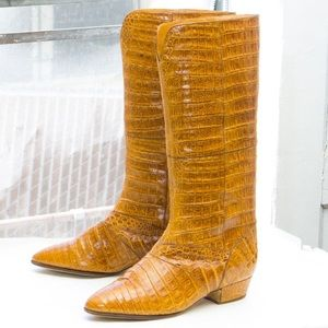 di Fiori  tall crocodile boot  made in Italy !