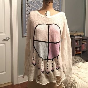 Wildfox white label dreamcatcher sweater