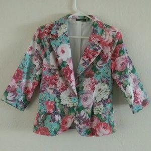Jackets & Blazers - New Cute Floral Blazer Jacket Top