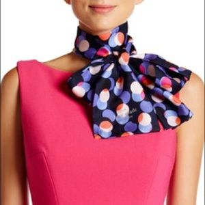 Kate Spade Multi Party Dot Silk Scarf