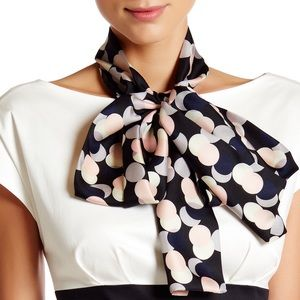 Kate Spade Neutral Party Dot Silk Scarf