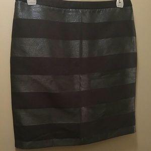 Metallic/Navy Stripe Tommy Hilfiger Skirt
