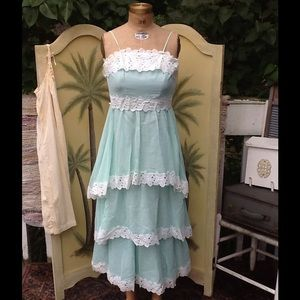VTG 60s TIERED MAXI DRESS...SO SWEET!