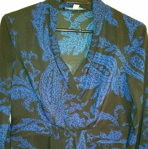CHADWICKS BLUE AND BLACK PULLOVER SZ 6