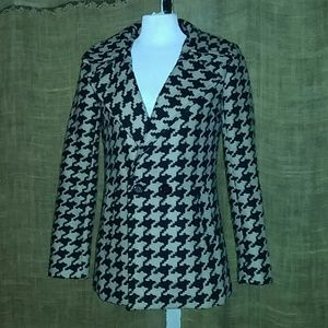 Lady's mac & jac, Houndstooth Patterned Coat