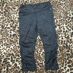 Danskin Now Pants - Leopard print workout capris