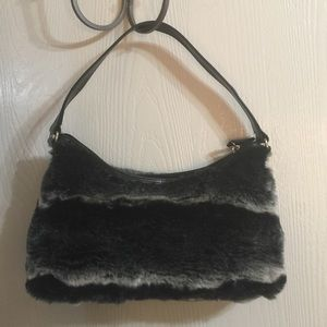 Old Navy Handbags - Black and Grey Fuzzy Purse