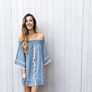 | new | off the shoulder print dress