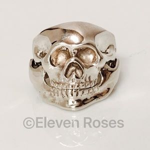 Taxco TV-47 Other - Taxco Mexico Sterling Skull Ring Hinged Jaw 🎃
