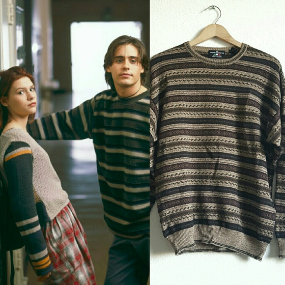 Vintage 90s Brown Striped Grunge Sweater. M_57ede362ea3f36ff8d020a21