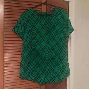 Merona Green Top with Pattern
