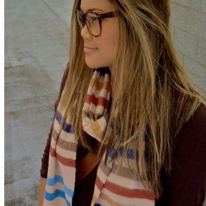 Striped scarf with fall colors