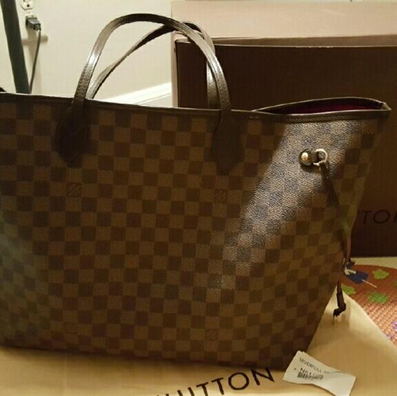 0907552406 Louis Vuitton Handbags - Reserved. Louis Vuitton Neverfull Damier Ebene GM