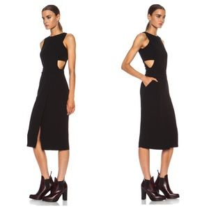 NWOT A.L.C. Monty Black Crepe Dress LBD size 0