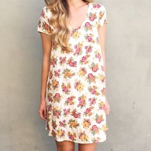 Dresses & Skirts - ivory floral dress