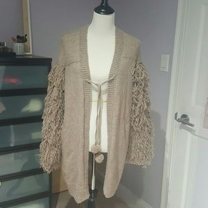 Figue Sweaters - Figue Alpaca Fringe-trimmed cardigan