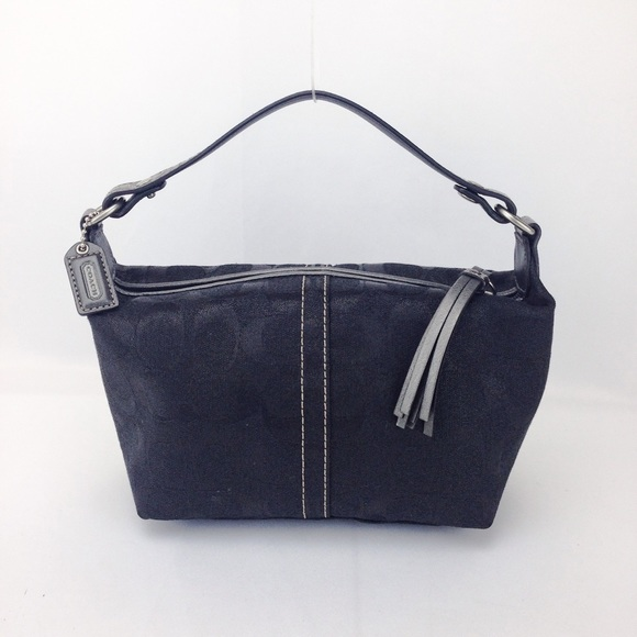 1e97bbdb70d4 Coach Handbags - Coach Signature Canvas Mini Demi Pochette PouchBag