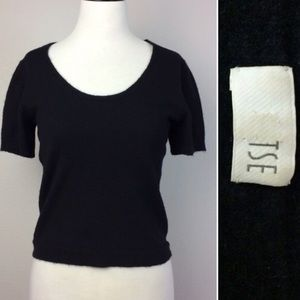 TSE Sweaters - TSE short sleeve cashmere sweater