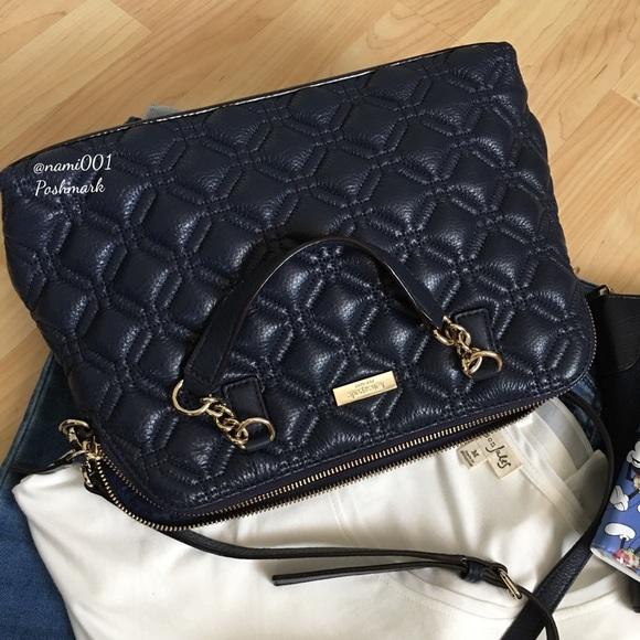 62 Off Kate Spade Handbags Kate Spade Dark Blue Quilted