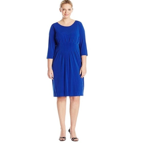 Calvin Klein New Blue Jersey Dress Plus Size 20W