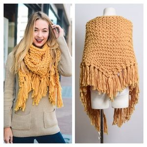 New Arrival- Oversized Knit Scarf, Chunky Scarf