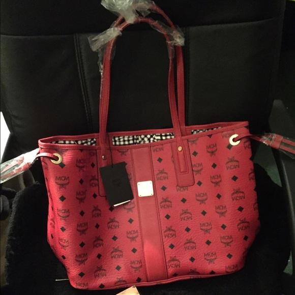 14% off MCM Handbags - Ruby red Mcm medium tote from Leroya's ...