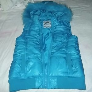 Justice Other - NWOT JUSTICE  FUR HOODIE PUFFER VEST (16)
