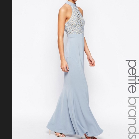 a9ffb3820c2 Caden Lace Detail Halter Neck Maxi Dress