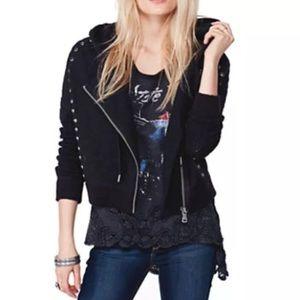 Free People Jackets & Blazers - Free People ✨RARE Black Studded Moto Rocker Jacket