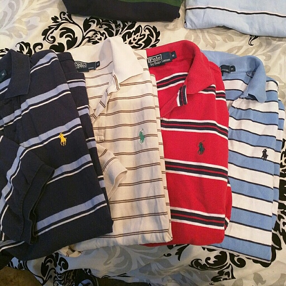 Lauren Medium Of Mens Ralph Polo Shirts 4 Lot Pols f6Yy7bg