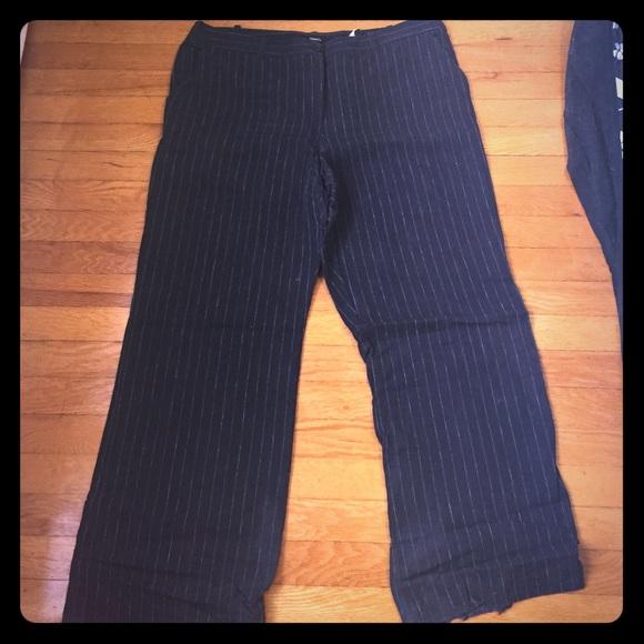 H&M Pants - H&M navy pinstripe pants