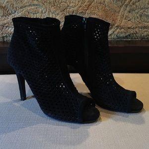 Pedro Garcia Shoes - Pedro Garcia Black Peep Toe Suede size 6.5 heels