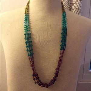 Jewelry - Rainbow beaded statement necklace