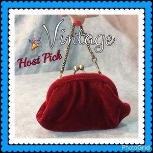 💥 SALE 👜 Boutique Red Velvet Bag