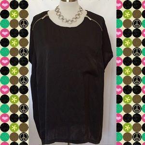 Michael Kors black top with zippers